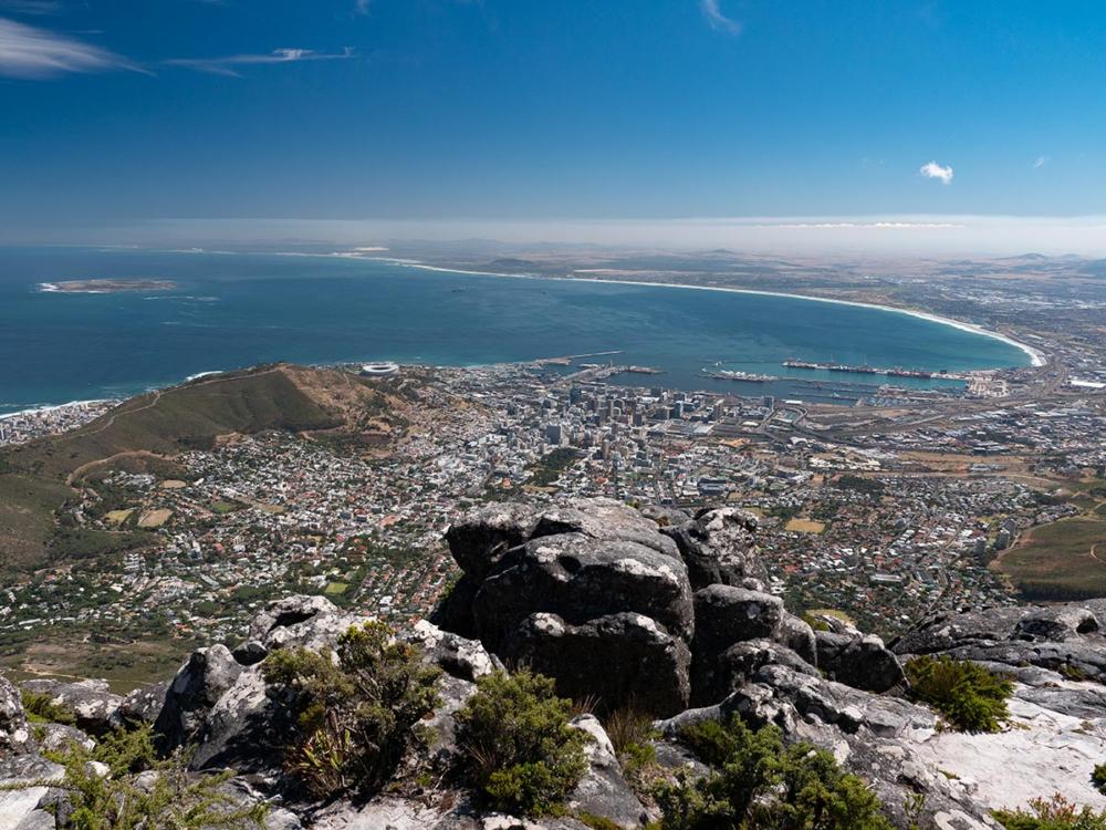 Kapstadt Südafrika auf dem Tafelberg