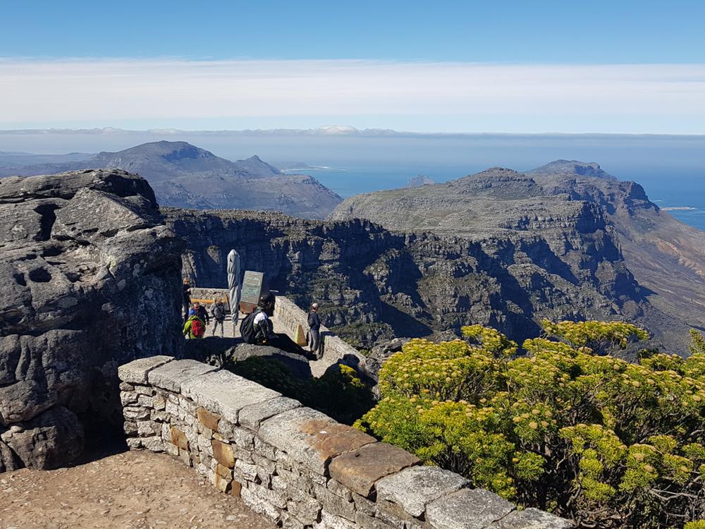 Blick vom Tafelberg Richtung 12 Apostel und Kaphalbinsel