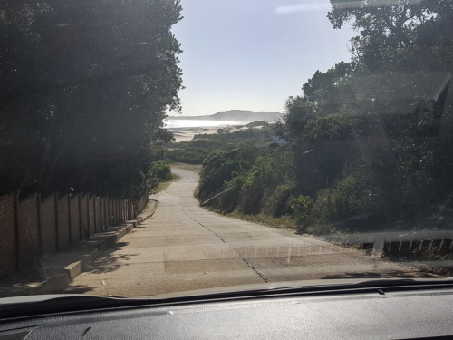 Der Strand von Oysterbay in Südafrika