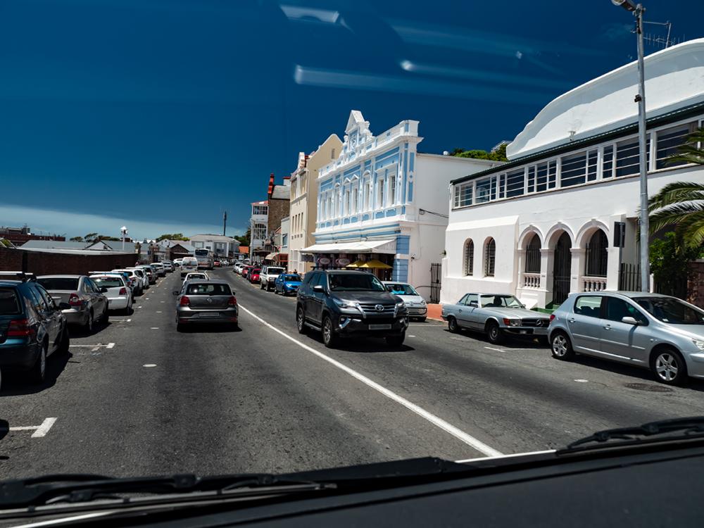 Fahrt durch Simons Town Richtung Cape Point